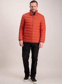 Orange Thermolite Lightweight Puffer Jacket