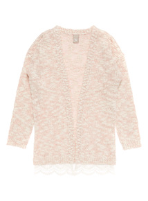 Girls Pink Longline Cardigan (3-12 Years)