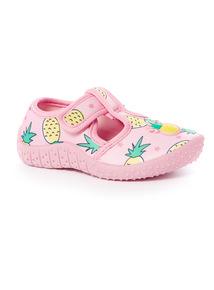 Pineapple Aqua Sandals