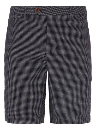 Black Gingham Chino Shorts