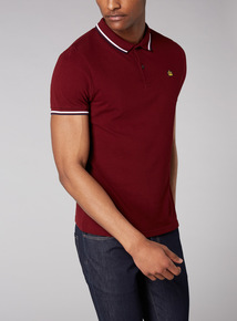 Admiral Burgundy Tipped Polo Shirt