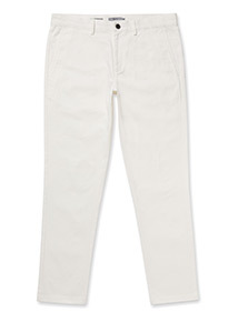 Online Exclusive White Slim Chinos With Stretch
