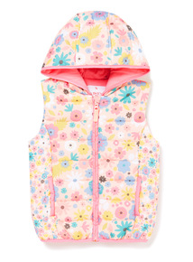 Multicoloured Floral Printed Gilet (9 months-6 years)
