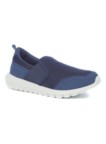 Sole Comfort Blue Mesh Slip On Shoe