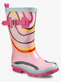 95535c354 Graduate Fashion Week Pink Swirl Print Wellies (10 Infant-4)