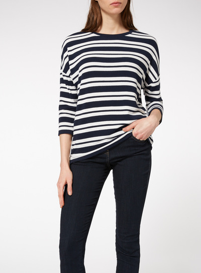 Nautical Stripe Navy Knit