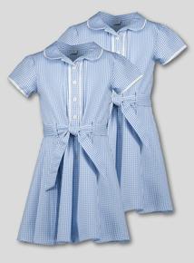 1e0897ae827 Blue Gingham Classic School Dresses 2 Pack (3-14 years)