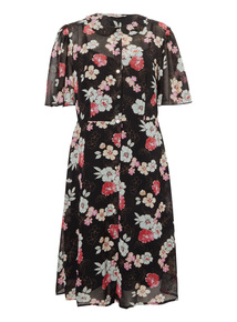 Multicoloured Ritz Longline Floral Shirt Dress