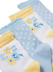 4 Pack Multicoloured Socks (0-24 months)