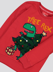Red Christmas 'Tree Rex' Jumper (9 Months - 6 Years)