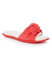 Knot Front Open Toe Slippers