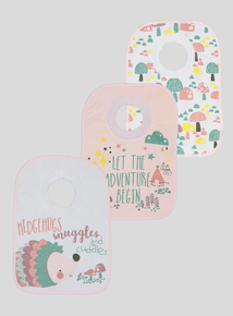 Multicoloured Animal Pullover Bibs (One Size)