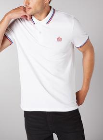 Admiral White Football Polo Shirt