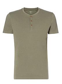 Khaki Button Up T-Shirt