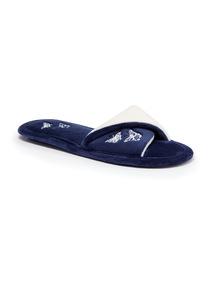 Navy Twist Slipper Mule