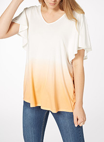 Dip Dye Angel Sleeve T-Shirt