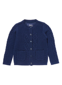 Navy Cable Cardigan (9 months-6 years)