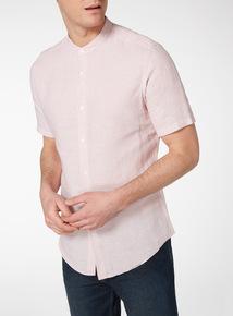 Pink Micro Stripe Linen Rich Shirt