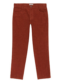 Online Exclusive Tan Cord Trousers With Stretch