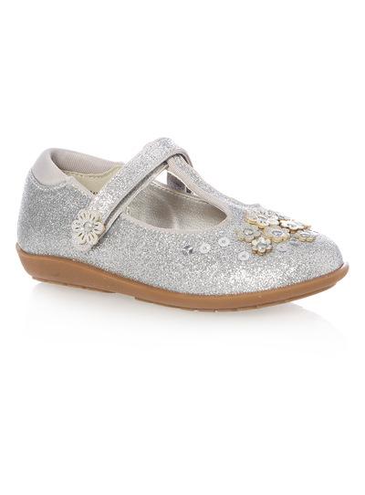 Girls Silver Bumper Party Shoe