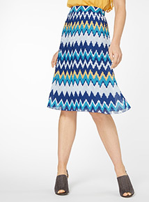 Chevron Pleated Skirt