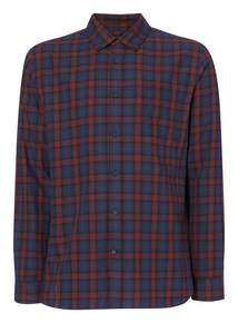 Purple Tartan Check Shirt