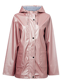 Metallic Rubber Raincoat