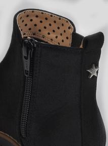 Black Shimmer Ankle Boots