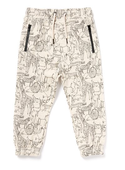 Oatmeal Animal Printed Joggers (9 months-6 years)