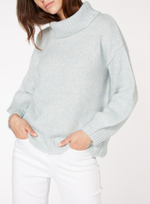 Pale Green Roll Neck Jumper