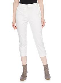 White Capri Trousers