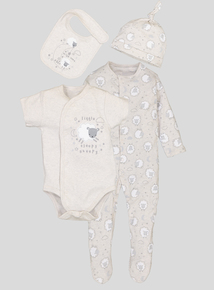 Beige Starter Sheep 4 Piece Set (0-24 Months)