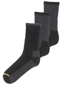 Multicoloured Heavy Duty Work Socks 3 Pack
