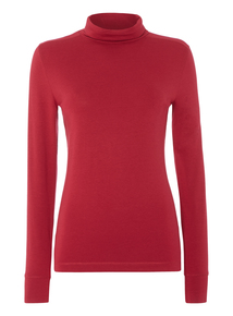 Pink Roll Neck Top