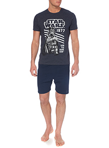 Navy Star Wars Pyjama Set