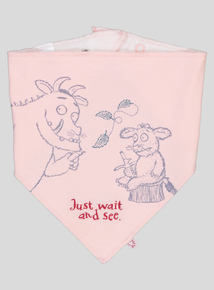 Gruffalo Pink And Grey Character Bib 2 Pack (One Size)