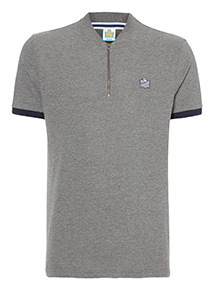 Admiral Grey Baseball Polo Shirt