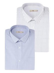 Blue Check Shirts 2 Pack