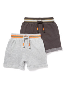 2 Pack Multicoloured Sweat Shorts (9 months-6 years)