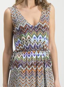 80d09a6f19f Multicoloured Chevron Print Maxi Dress