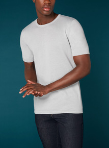 Premium Light Grey Textured T-Shirt