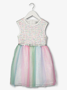 Multicoloured Rainbow Occasion Dress