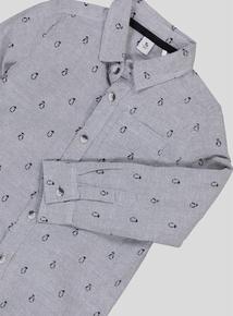 Grey Penguin Shirt (3-14 Years)