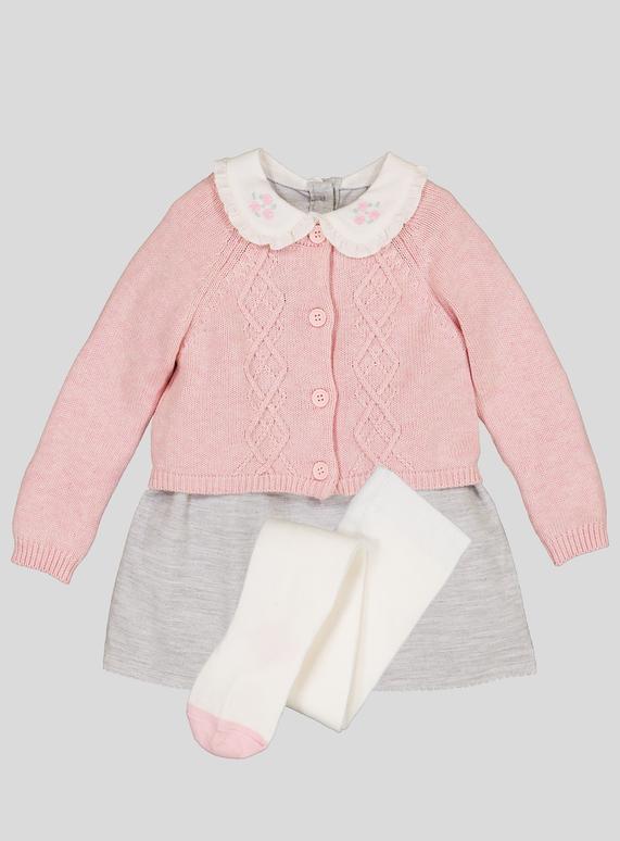 79d357f5d0e4 Baby Grey Corduroy Dress   Cardigan Set (Newborn - 12 months)