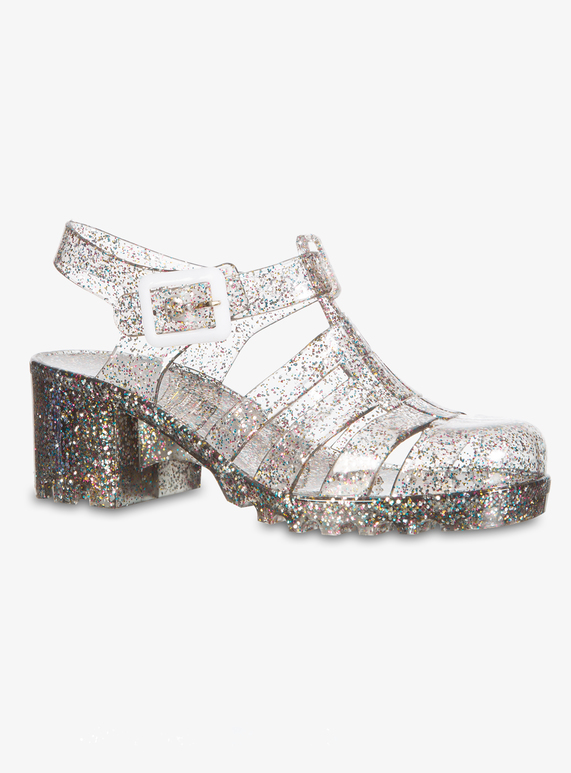 e697c559911c Kids Online Exclusive Multicoloured Glitter Heeled Jelly Shoes | Tu clothing