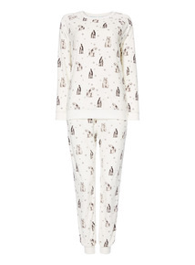 Polar Bear & Penguin Slinky Pyjama Gift Set