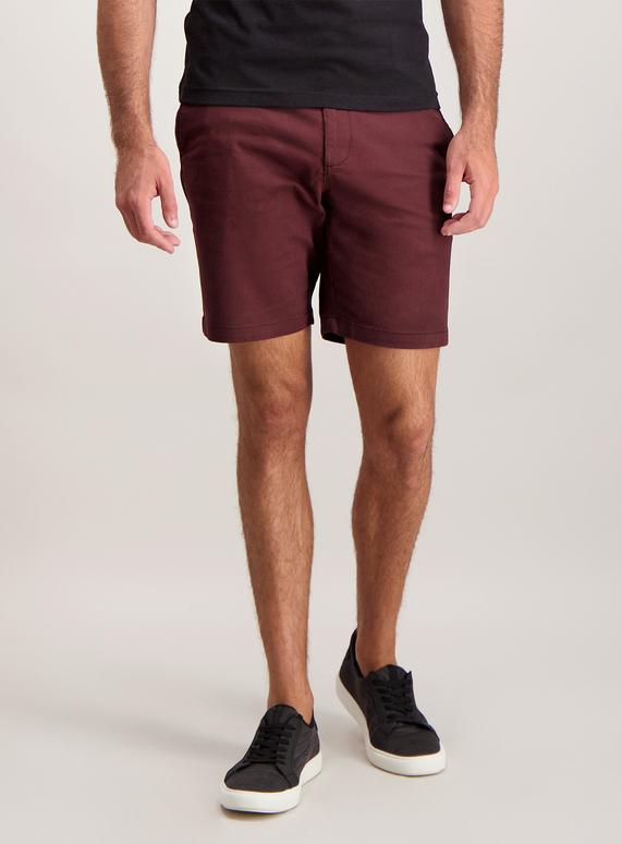 7122c00f5b05 Holiday Shop Burgundy Chino Shorts with Stretch