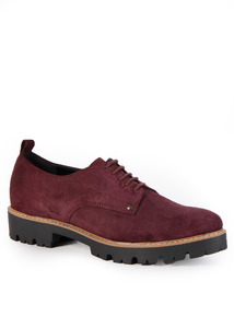 Premium Berry Lace Up Shoes