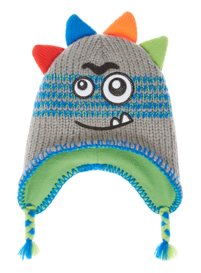 Kids Boys Grey Monster Trapper Hat (1-6 years)  ce74aa75608