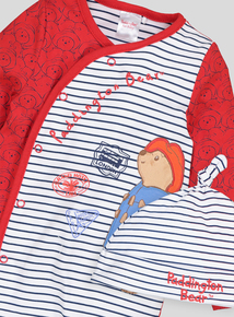 Paddington Bear Red & Navy Blue Sleepsuit & Matching Hat (0-18 Months)